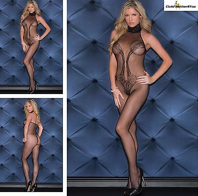 Hot Reizwäsche Fishnet Body Stocking Catsuit Netz Body Unterwäsche |H| 79694