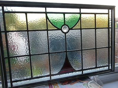 Art deco style stained glass leaded panels