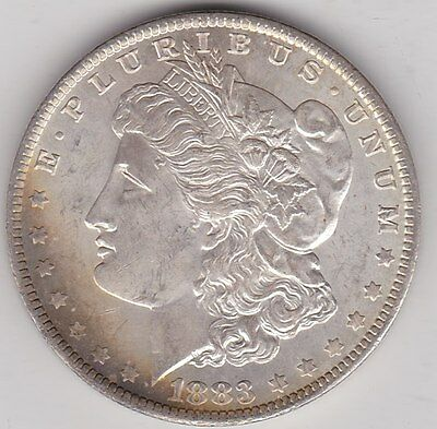 Usa 1883O Silver Morgan Dollar In Near Mint Condition