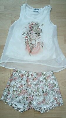 Beautiful Mayoral Outfit Top, Shorts Age 8 Yrs Euc