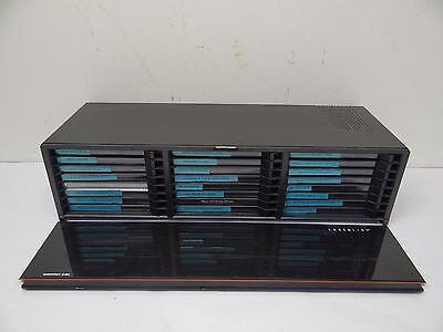 Vintage Laserline Compact Disc CD 24 Jewel Case Storage Container w Software CDs