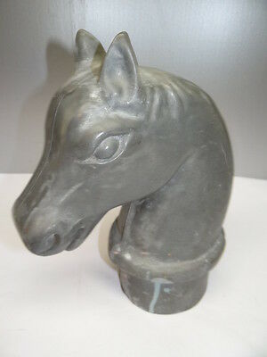 Antique Metal Lead Decorative Horse Stable Fence Post Gate Head Topper Hardware