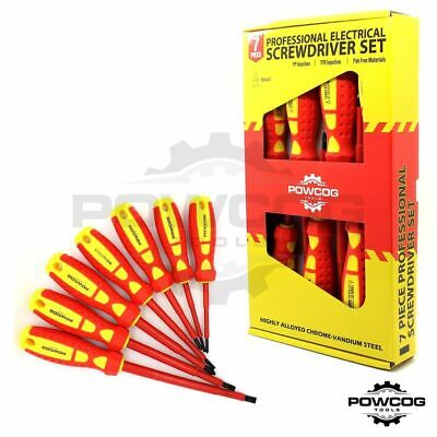 7 PIECE ELECTRICIANS Screwdriver Tool Set | Fully Insulated with Magnetic Tips
