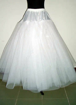 NO-Hoop 3-layers White Petticoat Wedding Dress Crinoline Petticoat Skirt Slip