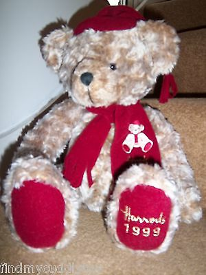 SUPERB HARRODS FOOT DATED 1999 17th BIRTHDAY GIFT TEDDY BEAR