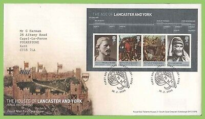 G.B. 2008 Lancaster & York m/s on Royal Mail First Day Cover Tewksbury h/s