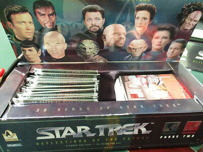 Job Lot Of Star Trek Phase 1,2,3 boxes & Trading Cards & Original Wrappers (156)