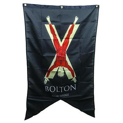 """HBO Game of Thrones XL 48"""" LICENSED House BOLTON Flayed Man Banner FLAG"""