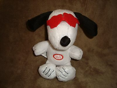 2015 Peanuts Snoopy W/ Sounds Valentines Plush Backpack Clip 7""