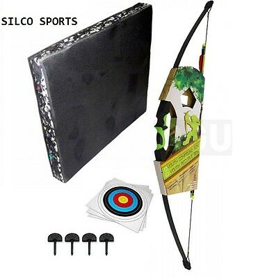 Junior Recurve Archery Bow Kit with Foam Target, 5 Targets, 6 Arrows & More....