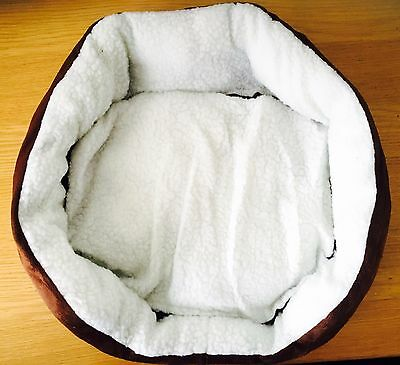 New Paw print Faux Fur Soft & Snug Dog Bed 44 x 40 cm