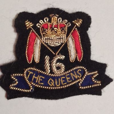 """Vintage Gold Bullion """"The Queens"""" Patch"""