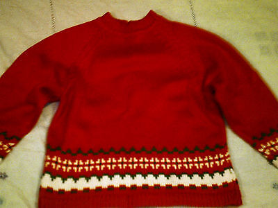 Jumper 5-7 years approx.  knitting (41 cm long, chest-64)