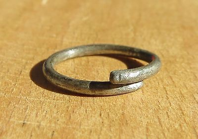 Scythian-Sarmatia Silver 1 Old Ring - Temporal 7-3 th Century BC  1.3 grams