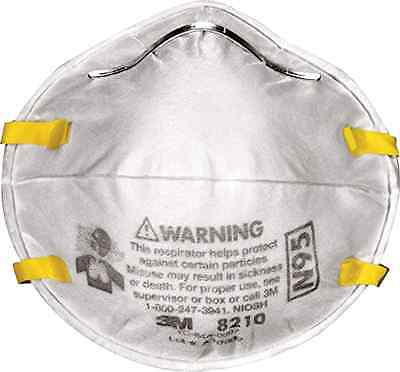 3M Dust Respirators 8210 N95 20 Pack Paint Face Safety Respirator Mask Masks