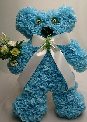 Teddy Bear Artificial Silk  Flower Funeral Wreath  Tribute, For Grave