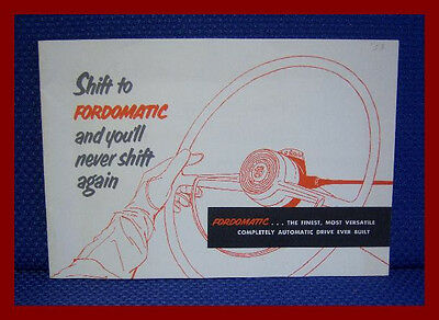 1953 FORD Fordomatic Drive Sales Brochure - Original New Old Stock