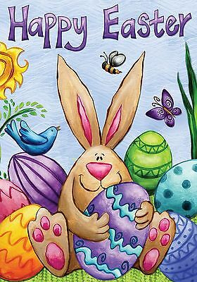 "Happy Easter Bunny Garden Flag Holiday Briarwood Lane 12.5"" x 18"""
