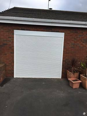 Insulated Electric Roller Shutter Garage Door in White