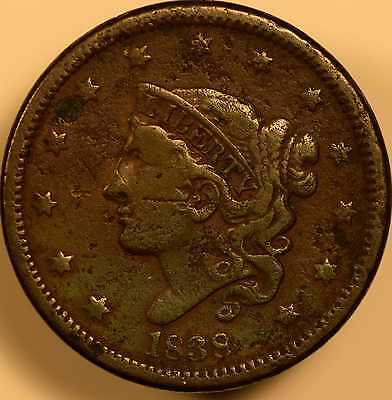 1838 Classic Head Large Cent Very Good Details
