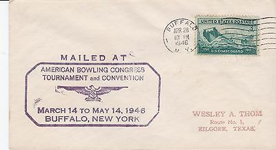 Cacheted cover, bowling tournament and convention, Buffalo, New York, 1948