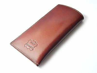 New Luxury Quality Real Leather Spectacle Glasses Case Holder by Italian Leather
