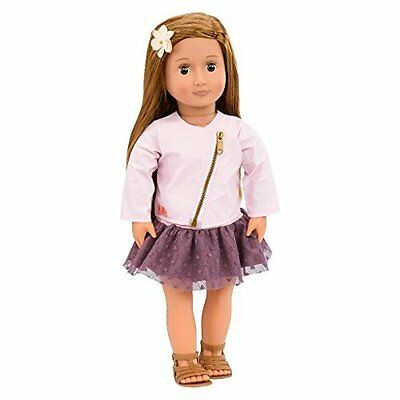 Our Generation 18 Inch Regular Doll VIENNA with Long Brown Hair, Brown Eyes, and