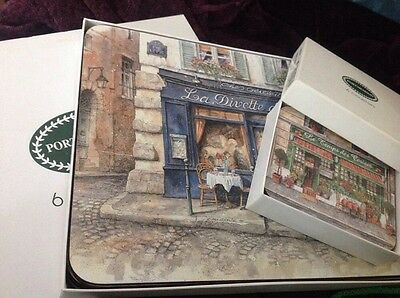 PORTMEIRION French Cafes coasters and table mats placemats, JASON New Zealand