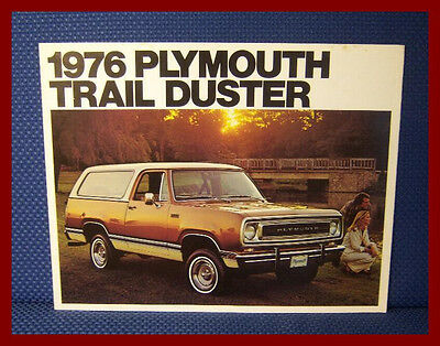 1976 Plymouth TRAIL DUSTER Sport Utility Sales Brochure - EXCELLENT CONDITION!