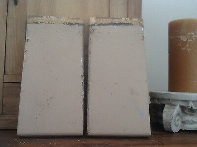 Antique corner plinth block molding Farmhouse decor 1 pair