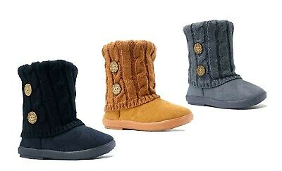 Wholesale lot 36 pairs New Kid's 2 Button Knitting Boot Fashion Shoes--285C