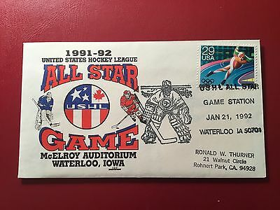 US Hockey League All-Star Game 1991-92 Cover (NB116)