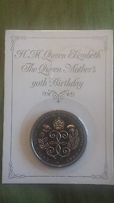 Royal Mint Queen Mother's 90th Birthday £5 coin