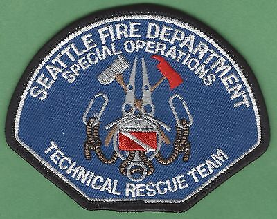 Seattle Washington Fire Technical Rescue Team Patch