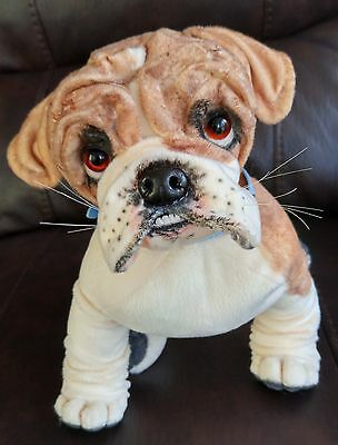 OOAK~collectable~poseable~English Bulldog~puppy~dog~soft sculpture