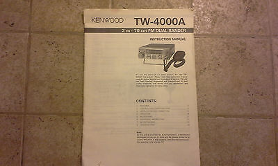 Kenwood TW-4000A  Owners Manual