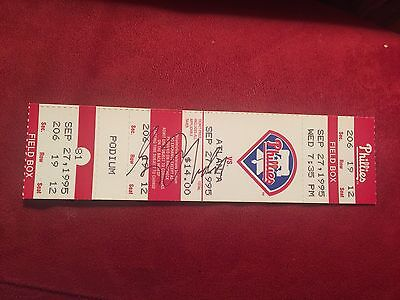 Greg Maddux Signed Full Ticket 150th Win Game