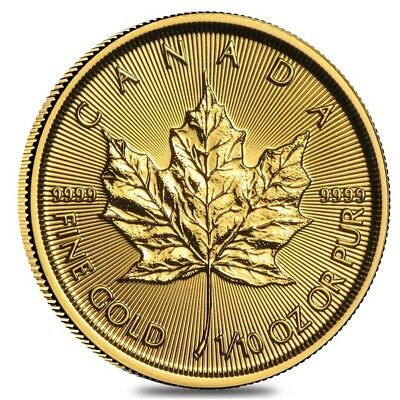 2017 1/10 oz Canadian Gold Maple Leaf $5 Coin .9999 Fine BU (Sealed)