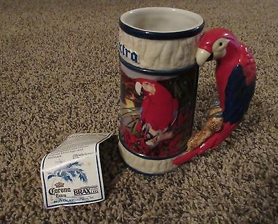 Corona Extra Beer Stein With Parrot Handle Brax Ltd. Tropical Paradise Numbered