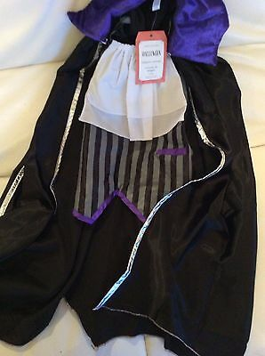 Pottery Barn Kids Vampire Halloween Costume 4-6 NWT! 2 pc Cape Fast Ship