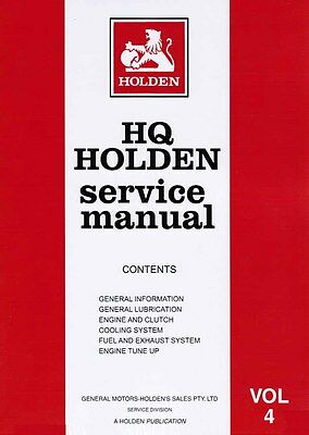 Holden HQ 1972 Factory Service Repair Workshop Manual Volume 4