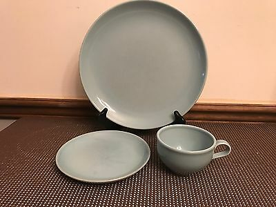 "Russel Wright Iroquois Casual ""ICE BLUE""  ~ Lot of 3 Pieces ~ Plates, Mug"