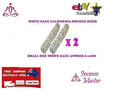 Aroma 2 x White Sage Smudge Small Stick California Small 8- 11cm Smudging