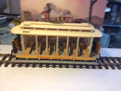 G Gauge Bachmann Open Street Car - United Traction Co- Motorized- Excellent
