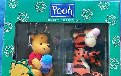 Winnie The Pooh And Tigger Plush Coin Key Ring Holder Nib