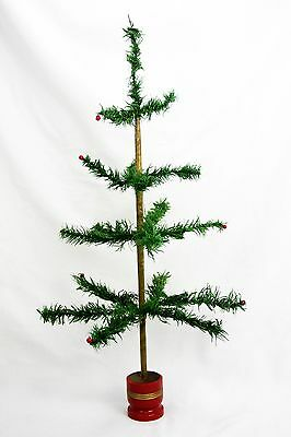 "Antique German Christmas Feather Tree 26"" ca1920"