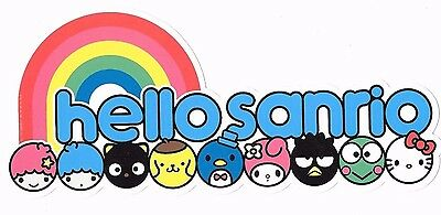 "Sanrio Hello Kitty ""Hello Sanrio"" LTS Chococat Rainbow Decal Promo Sticker"