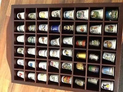 Old Thimble Collection Various With Cabinet Christmas Present
