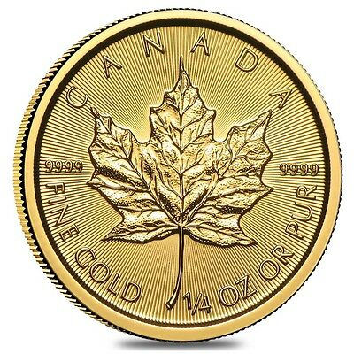 2017 1/4 oz Canadian Gold Maple Leaf $10 Coin .9999 Fine BU (Sealed)