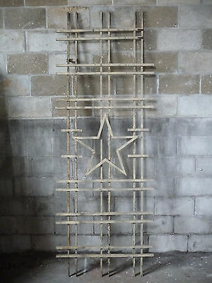 Antique Craftsman Style Star Porch Lattice - Circa 1910 Architectural Salvage